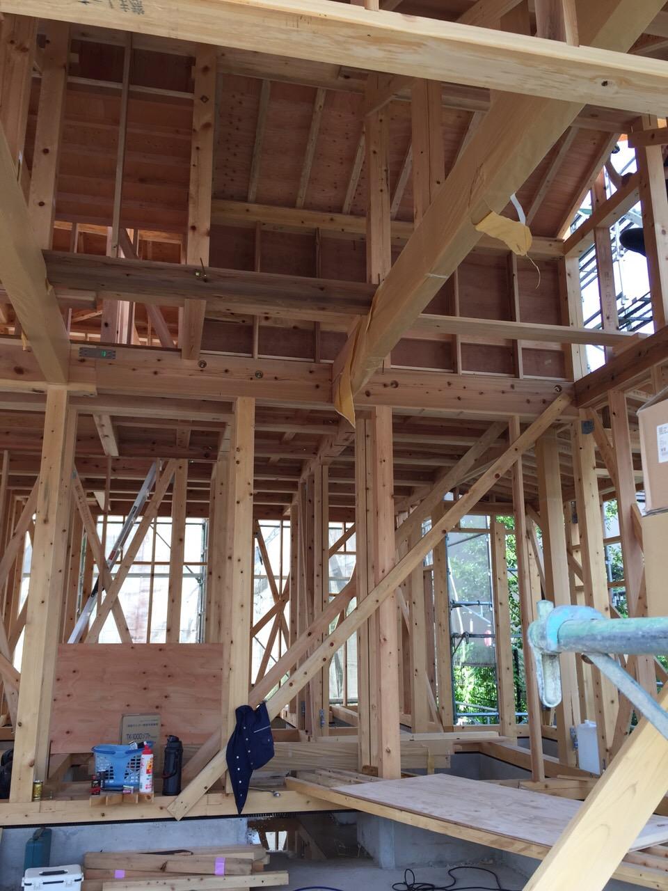 「大屋根の家」進捗状況です。8/28_e0215179_10435215.jpg