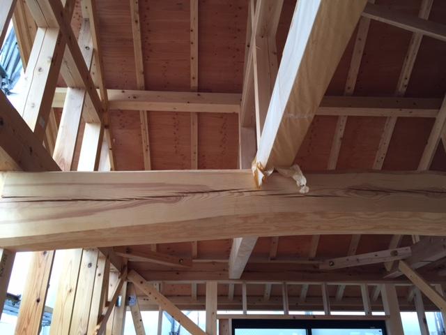 「大屋根の家」進捗状況です。8/28_e0215179_10531978.jpg