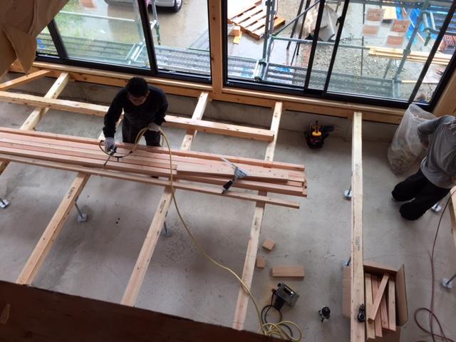 「大屋根の家」進捗状況です。8/28_e0215179_10542111.jpg