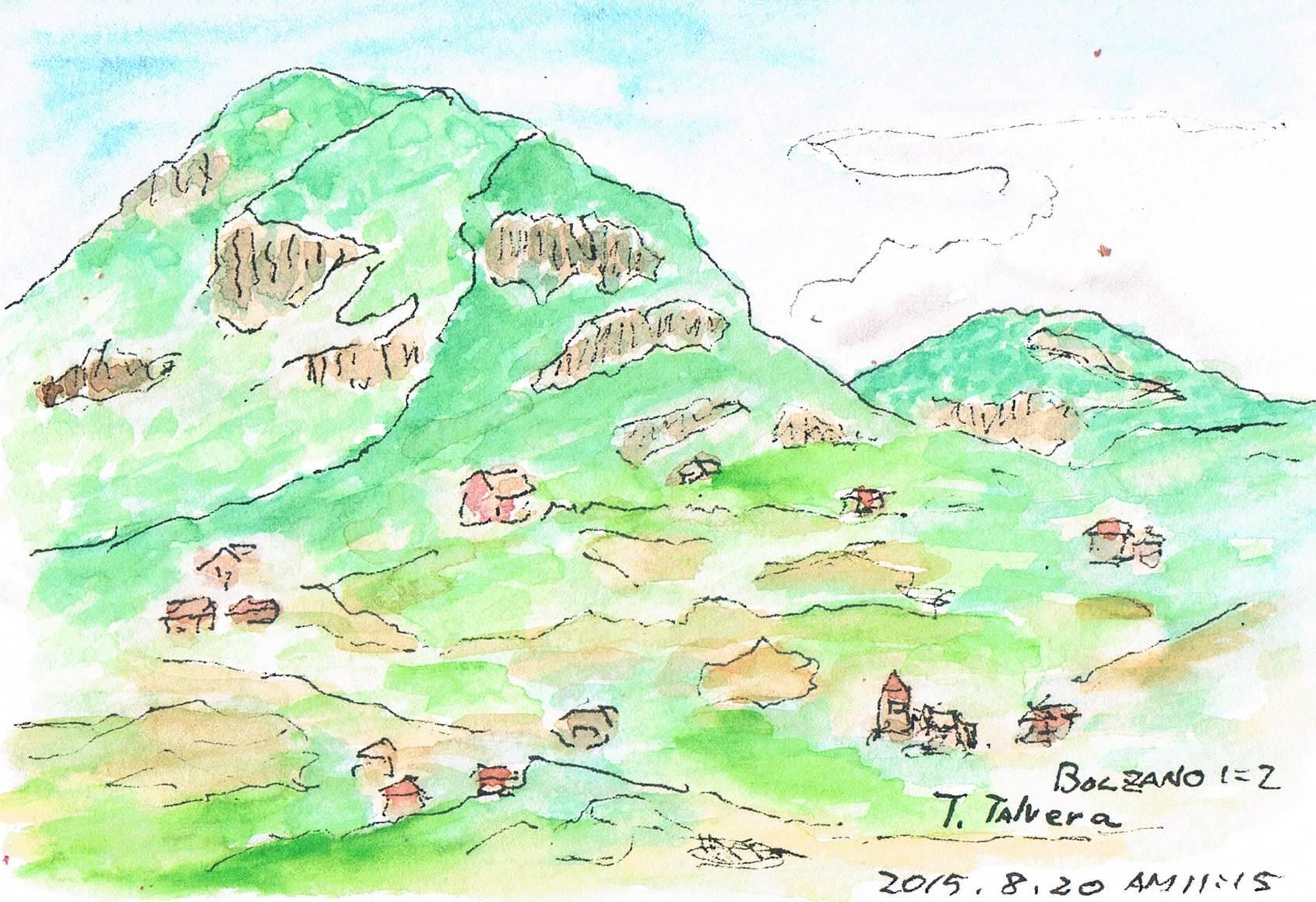 Bolzanoでスケッチ_e0232277_10264978.jpg