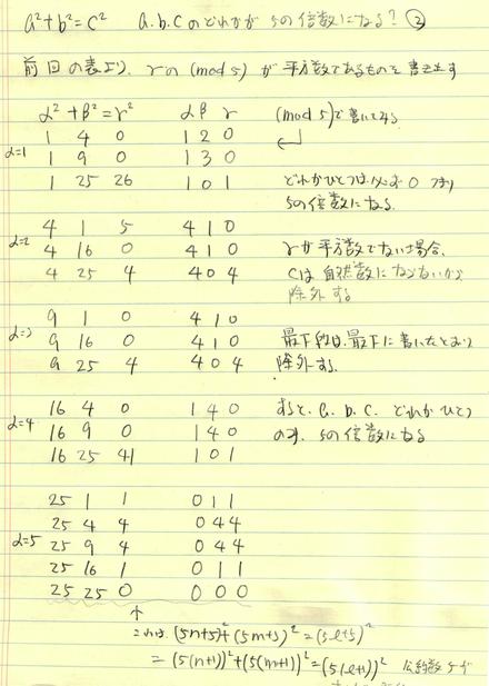 a^2+b^2=c^2 abcのどれかが5yになる? 2_d0164691_19385824.png