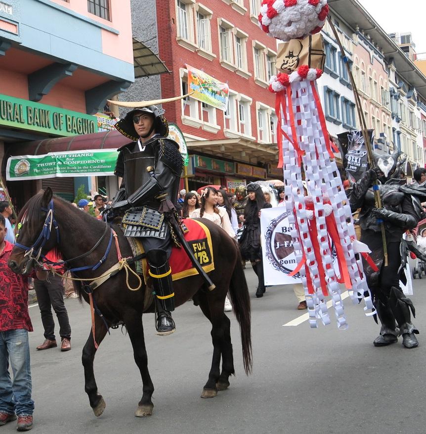 BAGUIO DAY PARADE 2015 バギオ市制106周年記念パレードに伊達政宗と七夕飾りが参加_a0109542_1801978.jpg