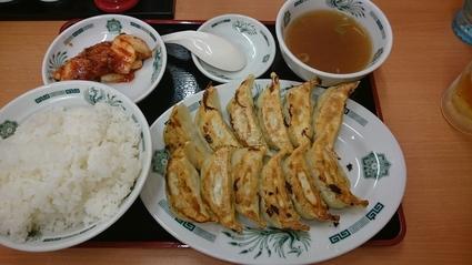 9/2 W餃子定食¥620ライス大盛り無料+生ビール¥310@日高屋_b0042308_037862.jpg