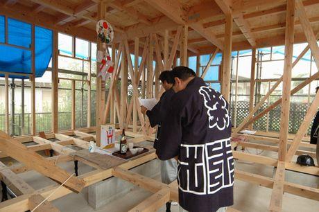 「土浦の家」上棟式。_a0059217_20253637.jpg
