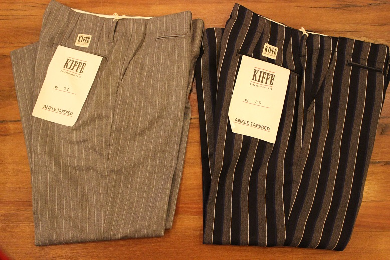 "KIFFE (キッフェ) ""CHALK & REJIMENTAL STRIPE ANKLE TAPERED\"" ご紹介_f0191324_9123729.jpg"