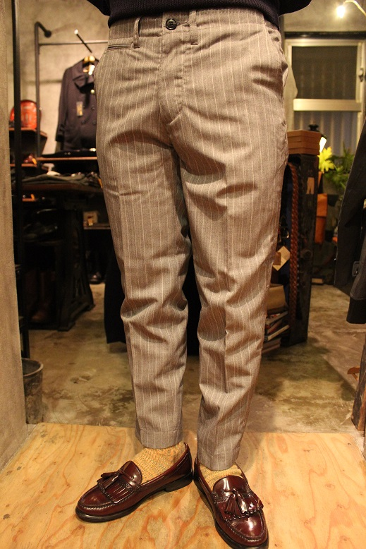 "KIFFE (キッフェ) ""CHALK & REJIMENTAL STRIPE ANKLE TAPERED\"" ご紹介_f0191324_9133494.jpg"