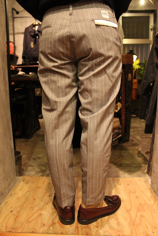 "KIFFE (キッフェ) ""CHALK & REJIMENTAL STRIPE ANKLE TAPERED\"" ご紹介_f0191324_9134099.jpg"