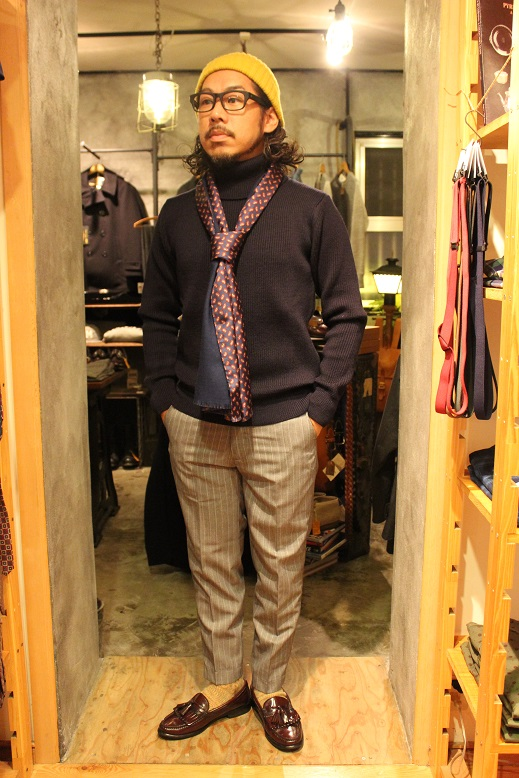 "KIFFE (キッフェ) ""CHALK & REJIMENTAL STRIPE ANKLE TAPERED\"" ご紹介_f0191324_9134762.jpg"