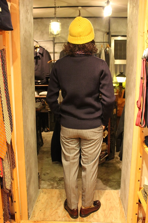 "KIFFE (キッフェ) ""CHALK & REJIMENTAL STRIPE ANKLE TAPERED\"" ご紹介_f0191324_9135526.jpg"