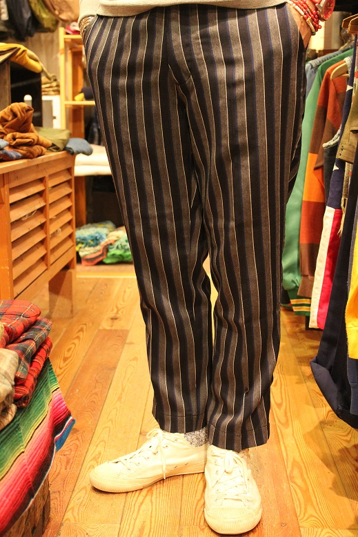 "KIFFE (キッフェ) ""CHALK & REJIMENTAL STRIPE ANKLE TAPERED\"" ご紹介_f0191324_9142956.jpg"