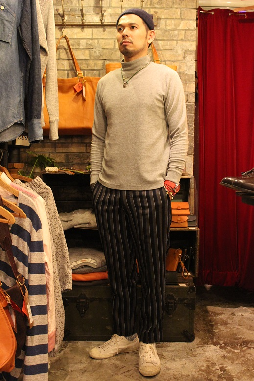 "KIFFE (キッフェ) ""CHALK & REJIMENTAL STRIPE ANKLE TAPERED\"" ご紹介_f0191324_915057.jpg"