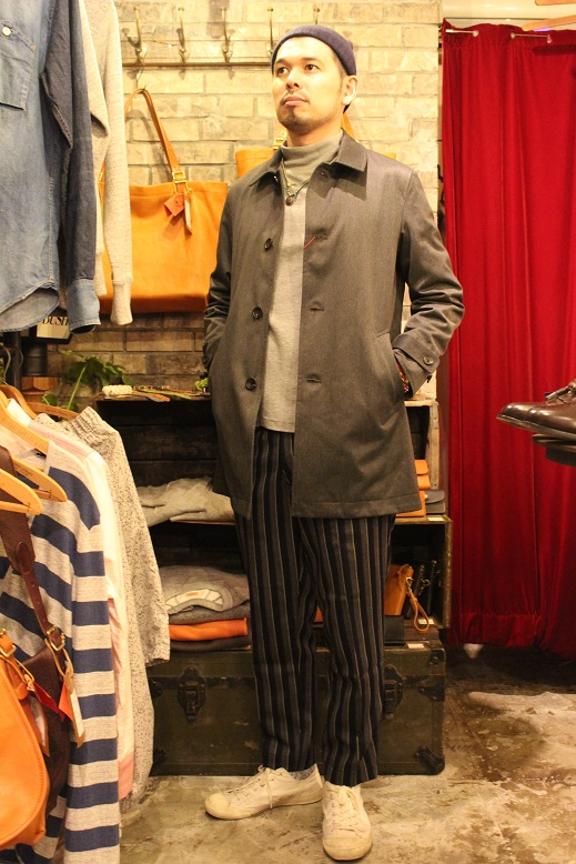 "KIFFE (キッフェ) ""CHALK & REJIMENTAL STRIPE ANKLE TAPERED\"" ご紹介_f0191324_915610.jpg"