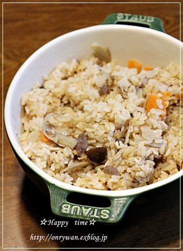 鮭のみりん漬け焼き弁当と炊き込みご飯♪_f0348032_18182607.jpg