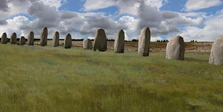 英ストーンヘンジ近くに新遺跡、約90個の巨石列柱を地中に発見 _b0064113_11315189.jpg