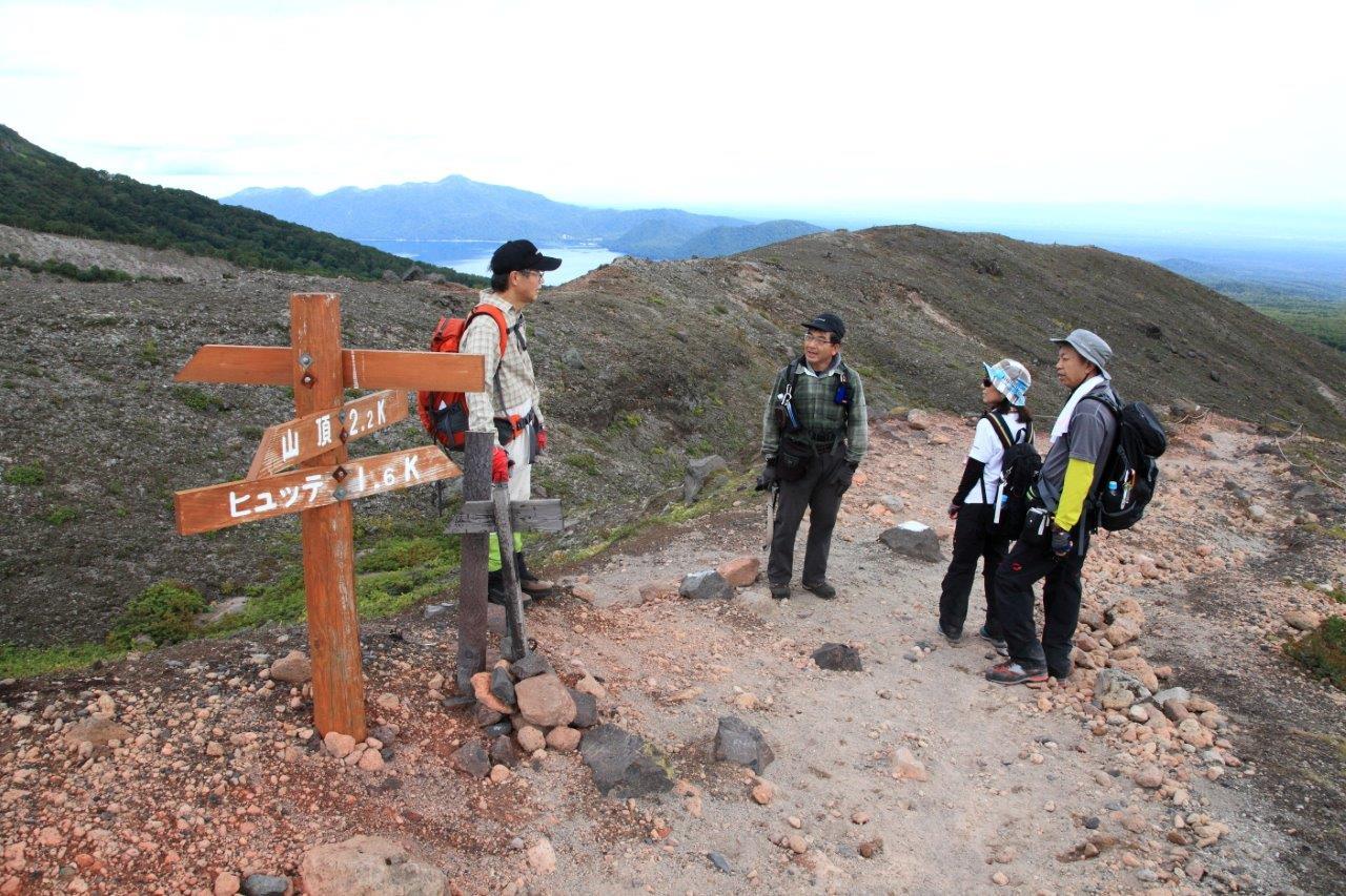 風不死岳楓沢コースから樽前山、9月6日-同行者からの写真・樽前山編-_f0138096_1142767.jpg