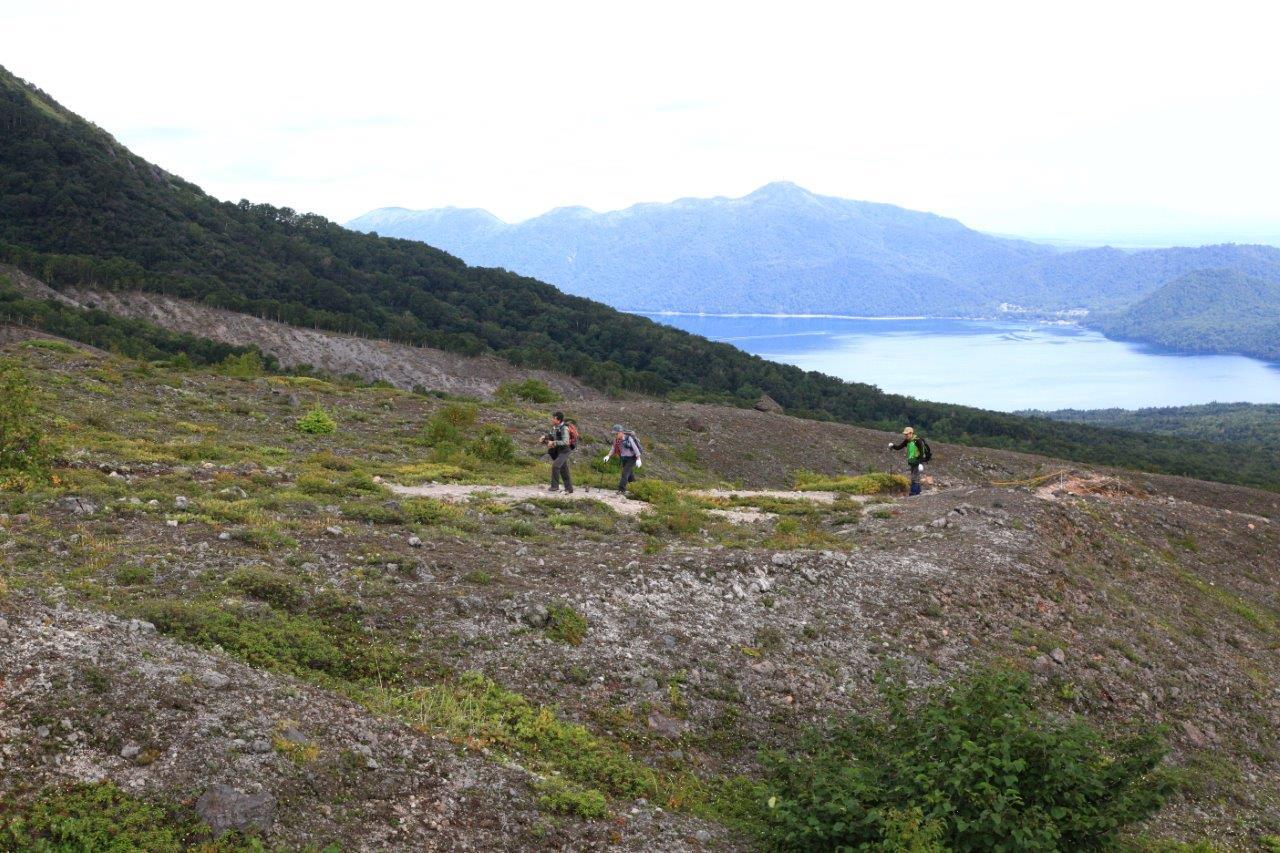 風不死岳楓沢コースから樽前山、9月6日-同行者からの写真・樽前山編-_f0138096_1144097.jpg