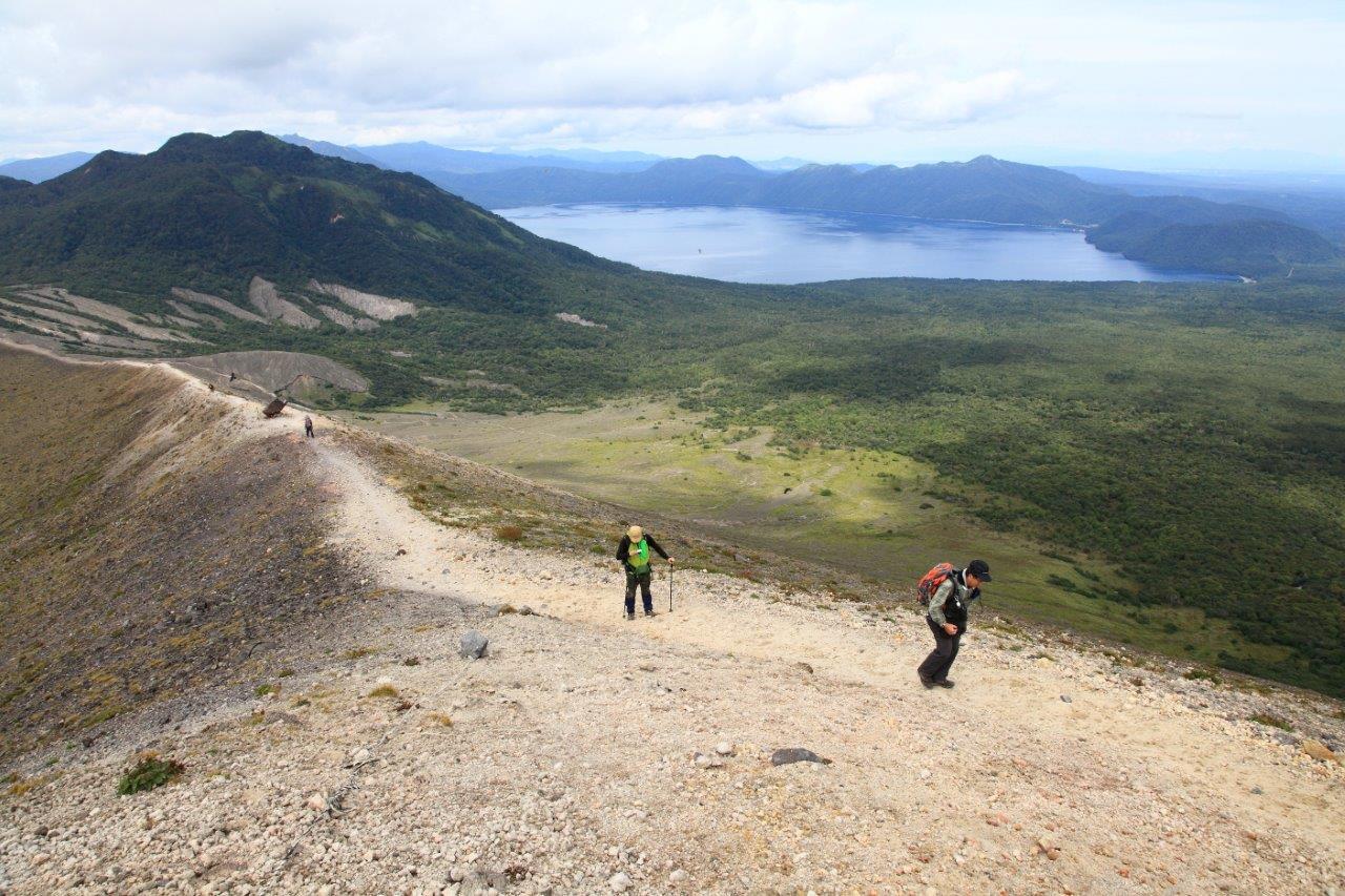 風不死岳楓沢コースから樽前山、9月6日-同行者からの写真・樽前山編-_f0138096_1145964.jpg