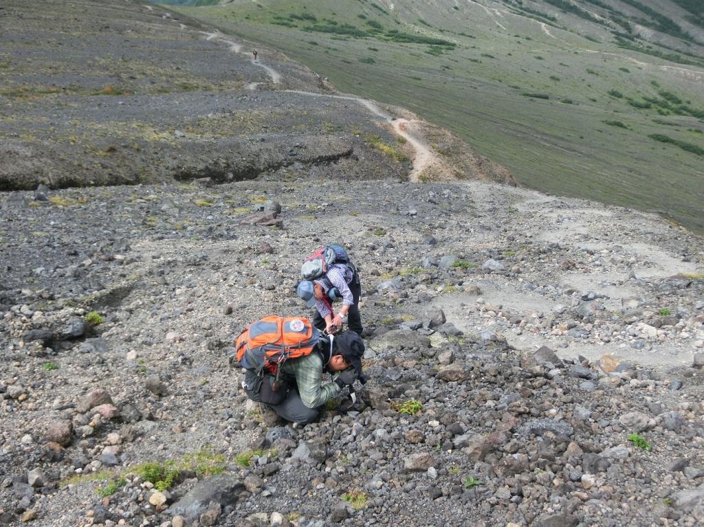 風不死岳楓沢コースから樽前山、9月6日-同行者からの写真・樽前山編-_f0138096_1155291.jpg