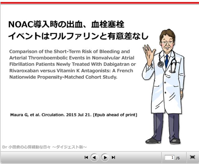 ケアネット連載:「NOAC導入時の出血、血栓塞栓イベントはワルファリンと有意差なし」更新しました_a0119856_20505487.png