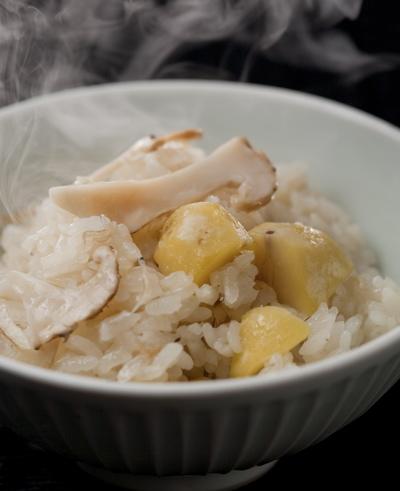 土鍋で炊いた・栗と松茸の炊込みご飯_f0232994_240930.jpg