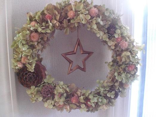 バジル色のアナベル紫陽花×ブロンズスター_c0207719_0221713.jpg