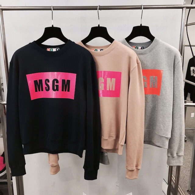 COMING SOON!! MSGM LOGO SWEAT_f0111683_12291768.jpg