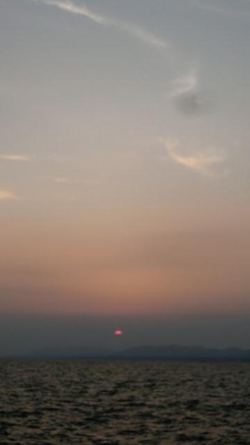 藤田八束の縁結び出雲の旅:島根県松江市宍道湖の夕日_d0181492_044758.jpg