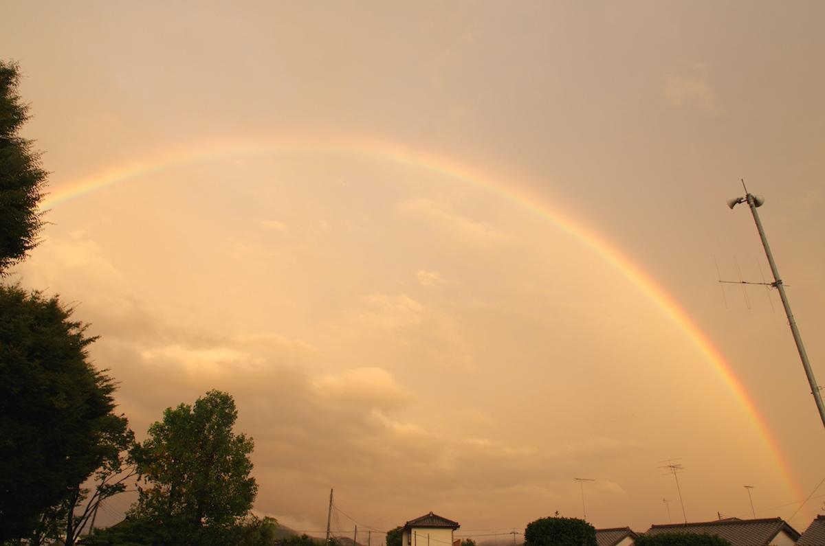 虹と夕焼け_f0138807_20581988.jpg