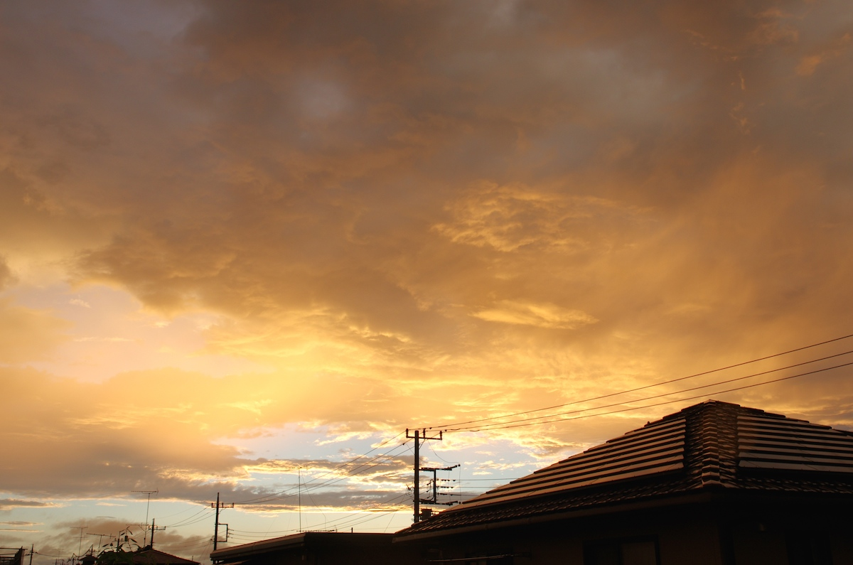 虹と夕焼け_f0138807_20582784.jpg
