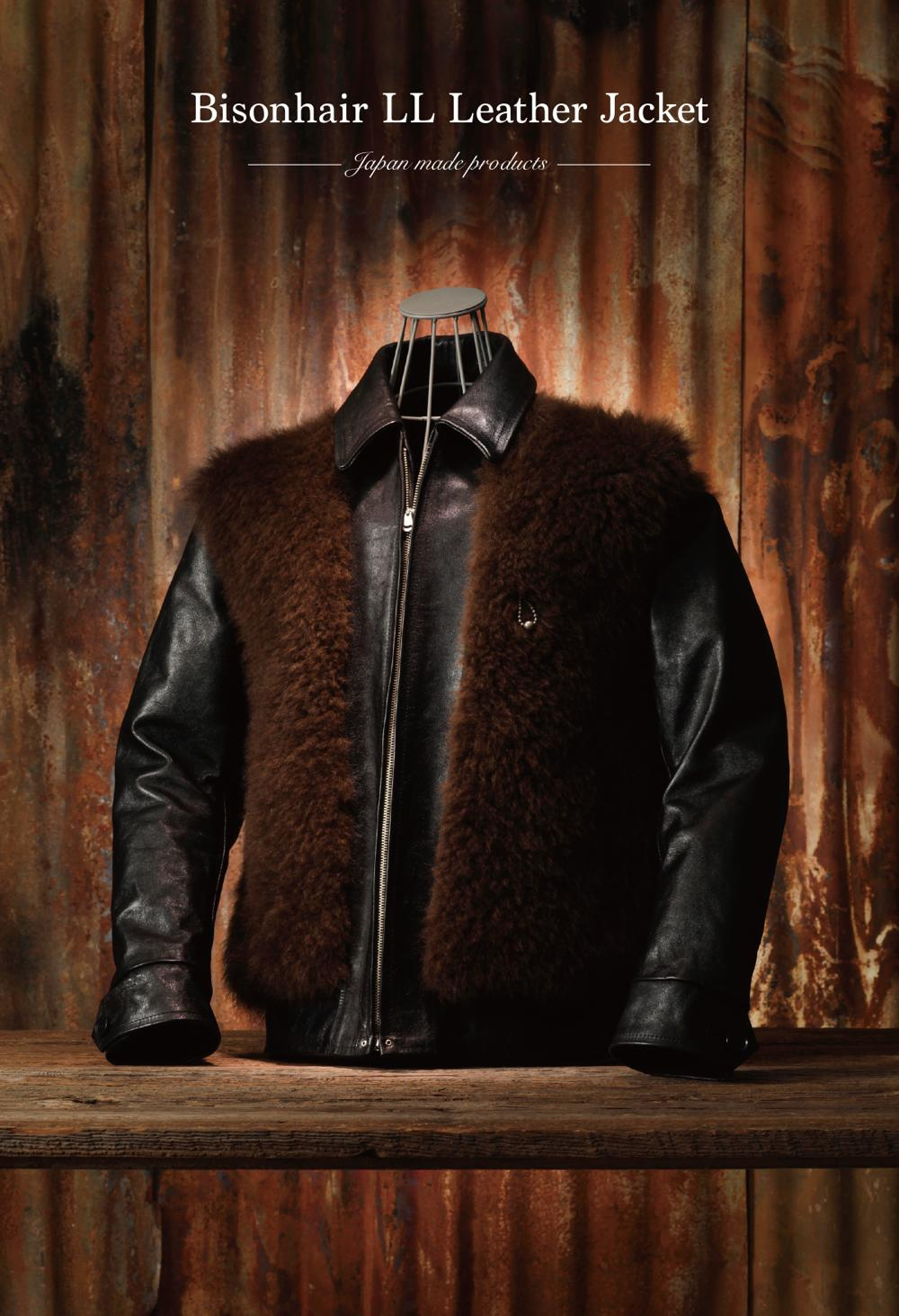 【Attractions】 Bisonhair LL Leather Jacket_c0289919_17231025.jpg