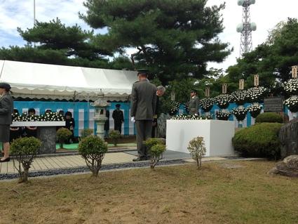『 平成27年度 福島県出身殉職自衛隊員追悼式 』_f0259324_23282190.jpg