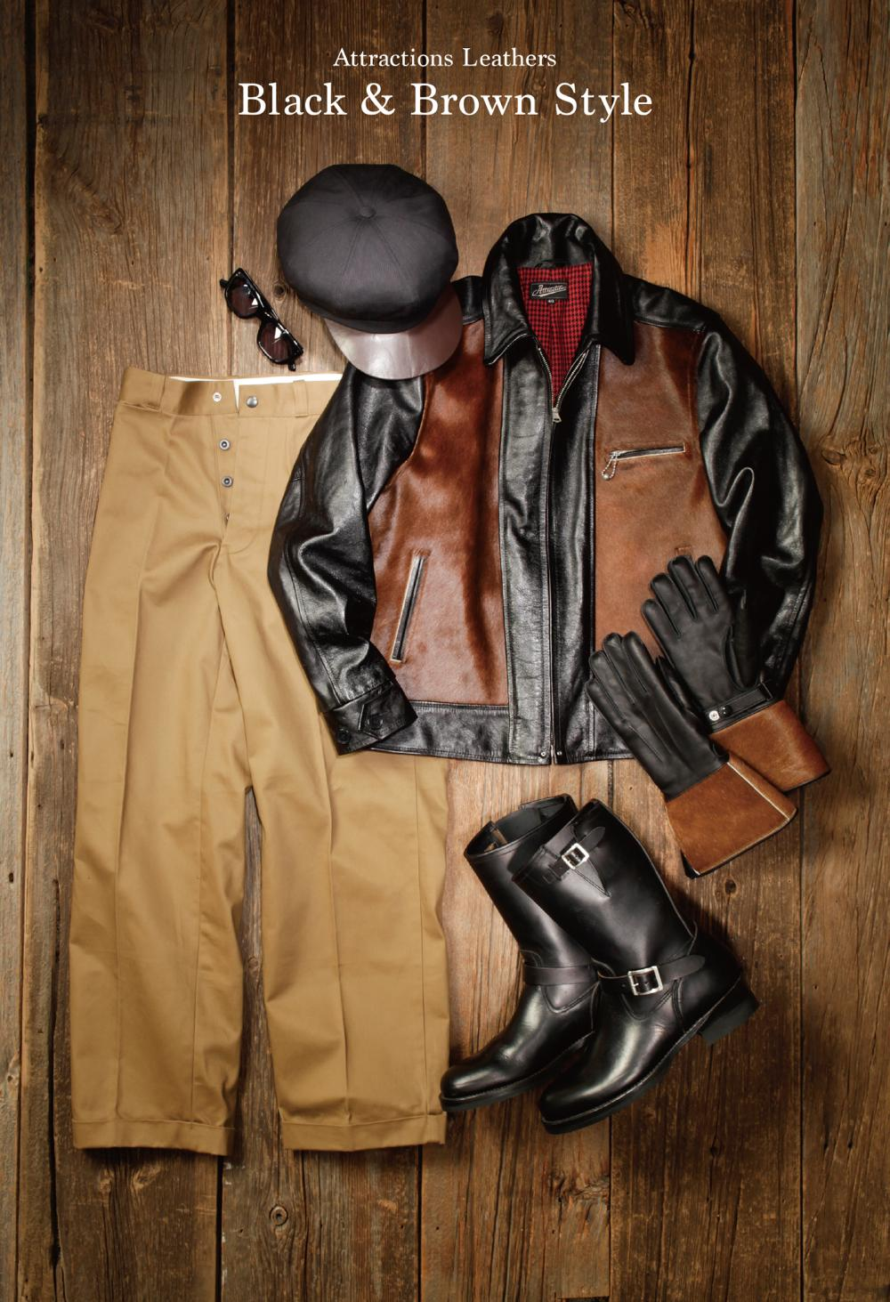 【Attractions】 Horsehair LL Leather Jacket_c0289919_12275567.jpg