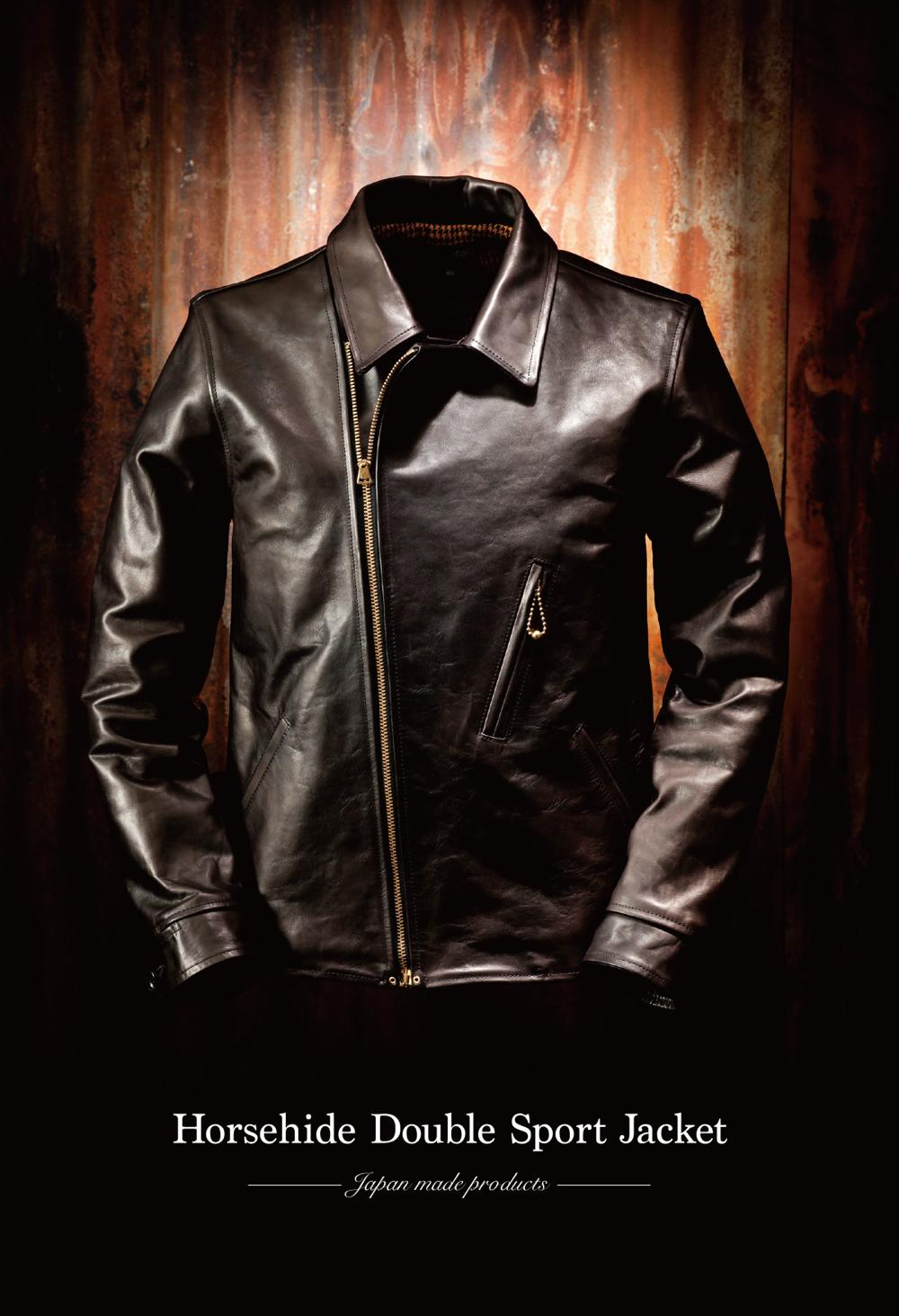 【Attractions】 Horsehide Double Sport Jacket_c0289919_132941.jpg