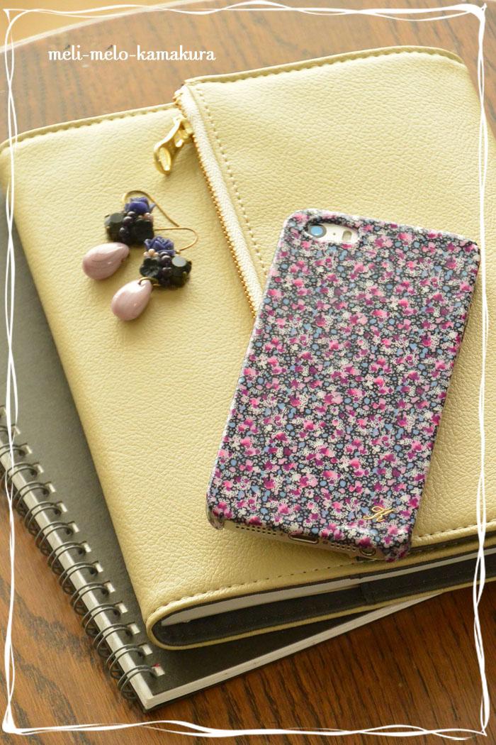 ◆デコパージュ*LIBERTYのハギレで秋のiPhoneケース&お知らせ_f0251032_1436593.jpg