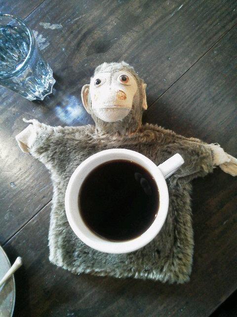 お猿の指人形_e0350308_7401581.jpg