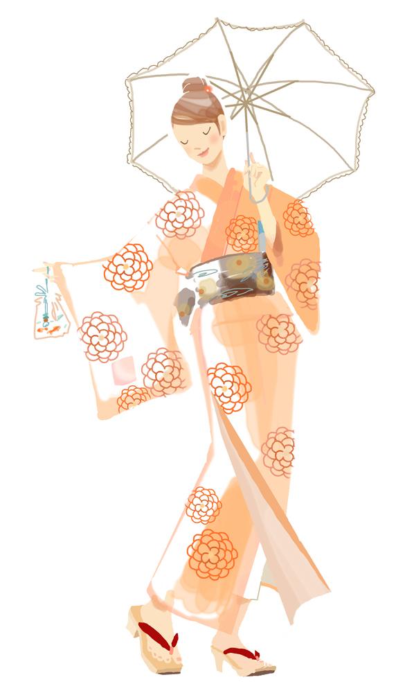 浴衣ですてきな夏を! 日経ヘルス_f0172313_23421583.jpg