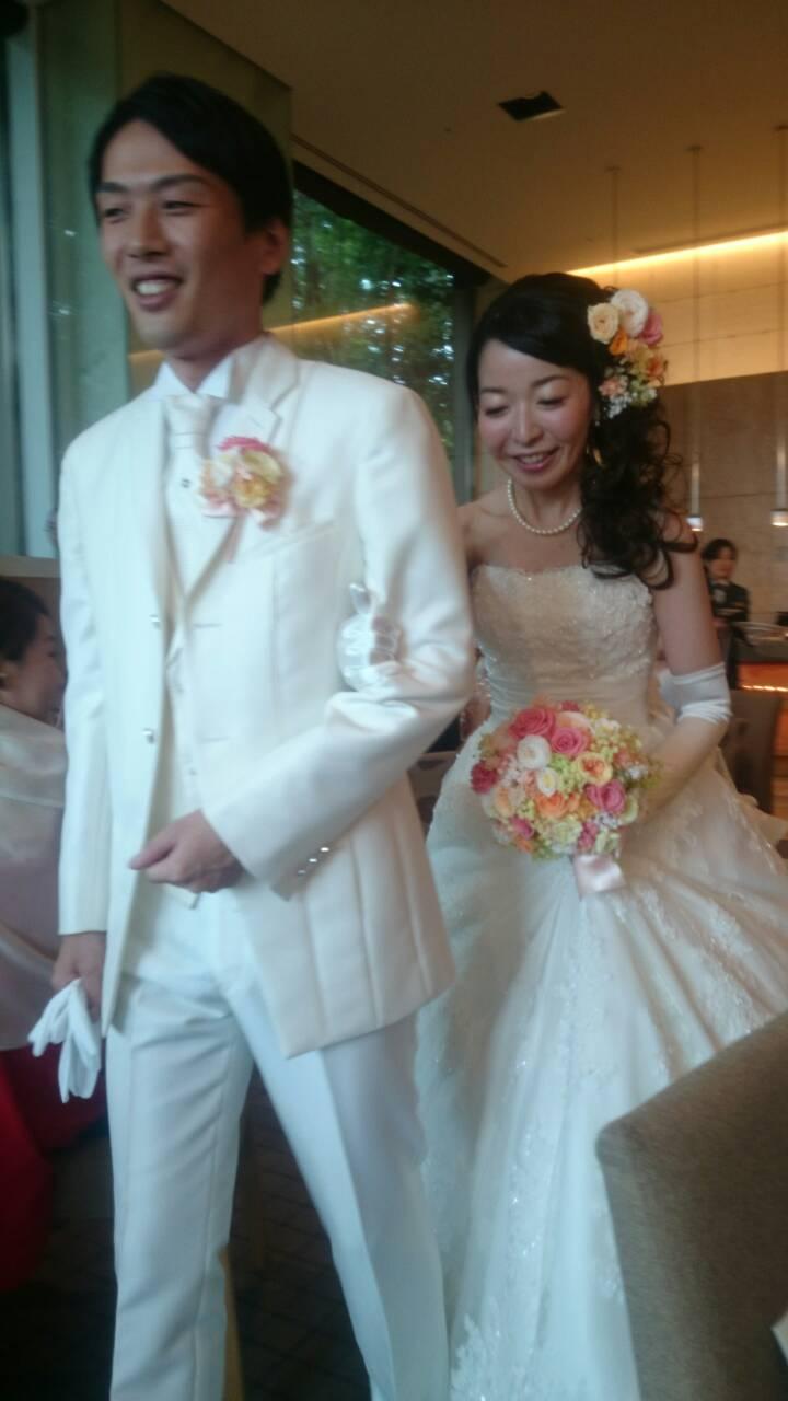 新郎新婦様からのメール プリザーブドブーケ椿山荘さまへ 結婚式は人 10月4日単発レッスンのご案内_a0042928_18381552.jpg