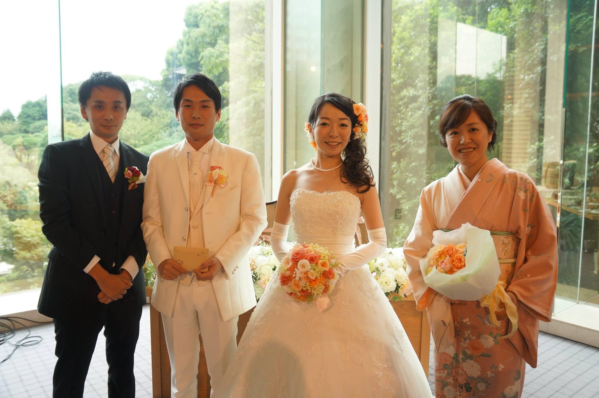 新郎新婦様からのメール プリザーブドブーケ椿山荘さまへ 結婚式は人 10月4日単発レッスンのご案内_a0042928_18384568.jpg