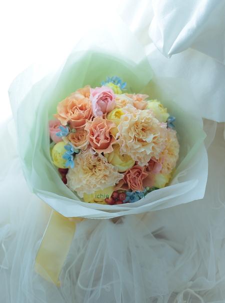 新郎新婦様からのメール プリザーブドブーケ椿山荘さまへ 結婚式は人 10月4日単発レッスンのご案内_a0042928_1904466.jpg