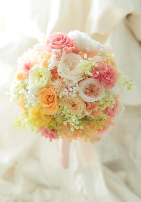 新郎新婦様からのメール プリザーブドブーケ椿山荘さまへ 結婚式は人 10月4日単発レッスンのご案内_a0042928_1931825.jpg