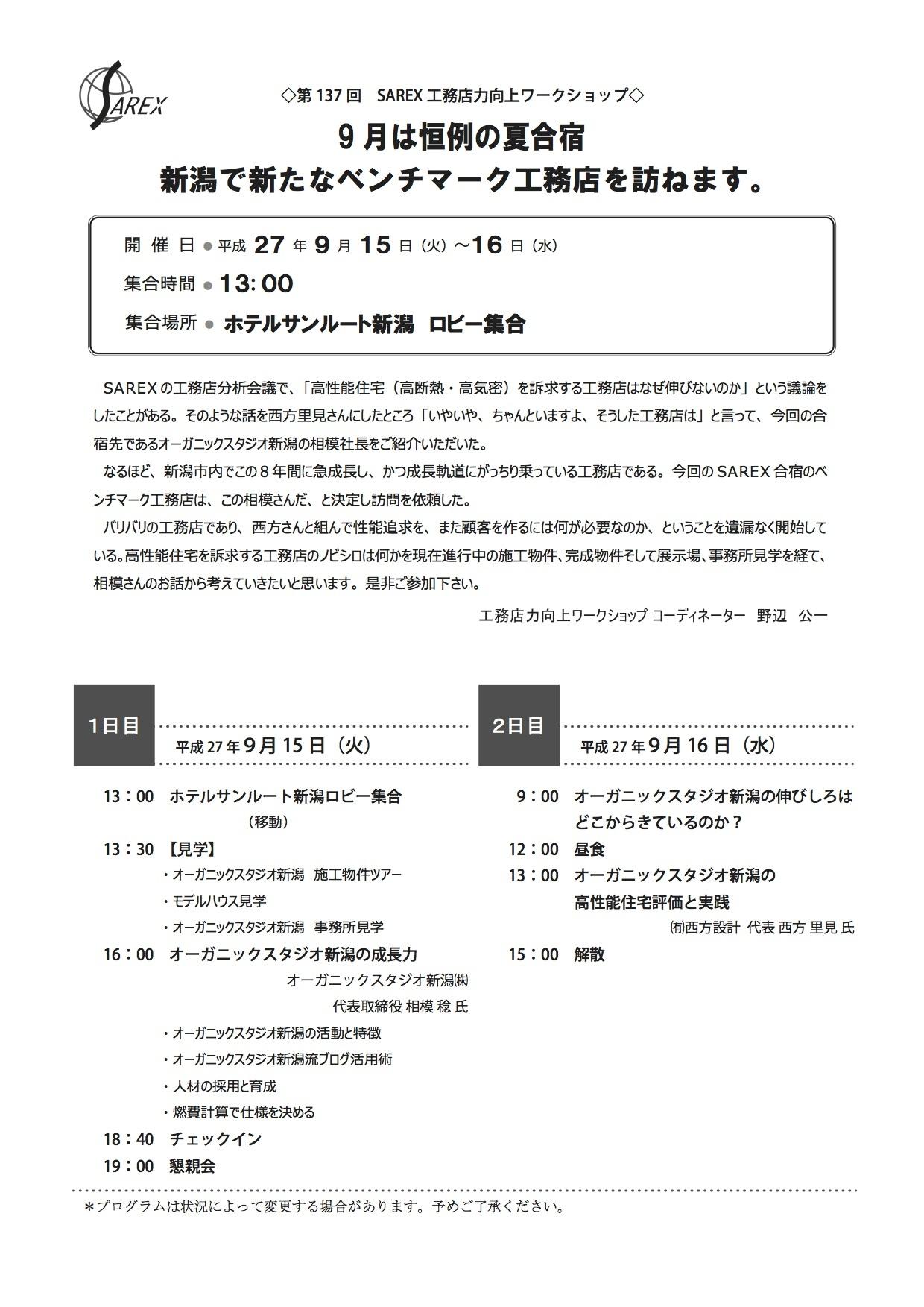 オガスタ新潟とSAREX_e0054299_22091174.jpg