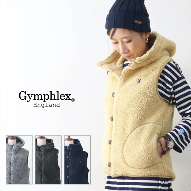 GYMPHLEX [ジムフレックス] クルミボタン ボア フード ベスト [ J-1069PL ] LADY\'S_f0051306_17481327.jpg