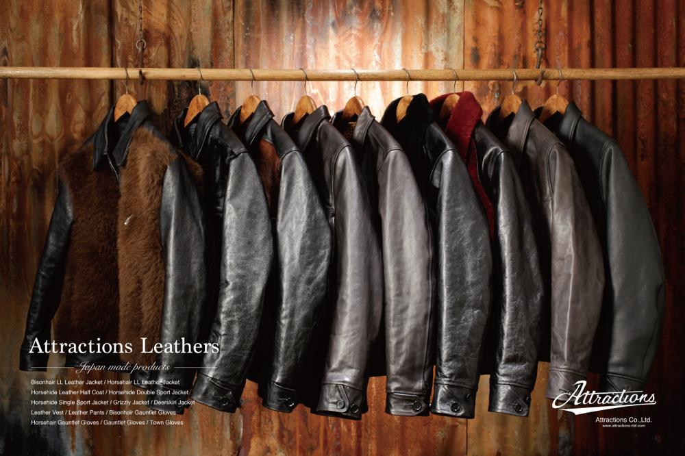【Attractions】 Horsehide Single Sport Jacket_c0289919_13361068.jpg