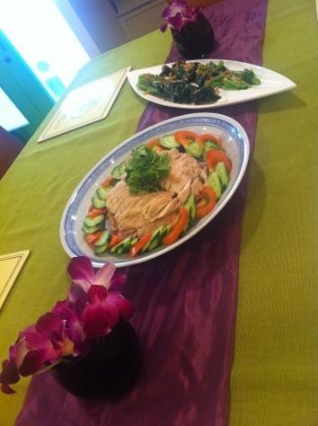 料理教室・・・海南チキンライス 丸鶏さばき実習も♪_f0141419_08204755.jpg