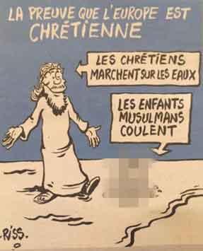 仏「シャルリエブド」の風刺画 / 遺体画像をトピックに _b0003330_9513778.jpg