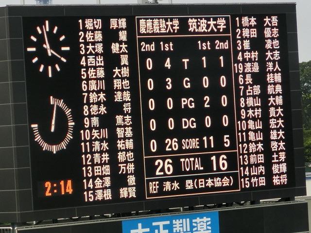 3年ぶりのラグビー生観戦 「慶応VS筑波」_f0141310_86214.jpg