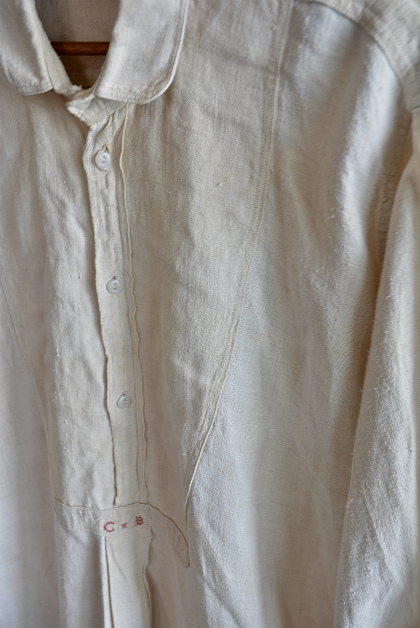 Linen&Hemp old grand-pa shirts_f0226051_16215721.jpg