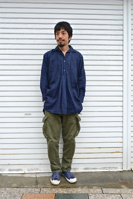 Linen& Hemp Grand-pa shirts over dyed snaps_f0226051_20535521.jpg