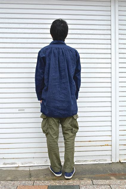 Linen& Hemp Grand-pa shirts over dyed snaps_f0226051_20541372.jpg