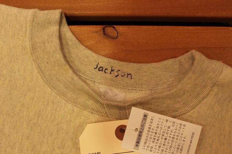 "JACKSON MATISSE \""REVERSE WEAVE CREW NECK SWEAT\"" ご紹介_f0191324_850458.jpg"